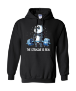 Panda Weight Lift Fitness The Struggle Is Real G185 Black Hoodie 8 oz - $32.50+