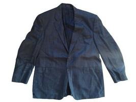 Ralph Lauren Chaps Blue Jacket Checkered Size Xl Silk Men - $36.81