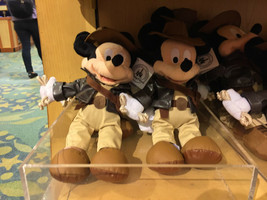 "disney parks 9"" mickey mouse as indiana jones plush toy new with tag - $29.38"