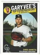 2019 Topps Gary Vees Top Entrepreneurs #GV7 Chris Iannetta > Colorado Ro... - $0.99