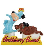 Huckleberry Hound and Dog in Tray Ceramic Salt & Pepper Shakers Set, NEW... - $23.21