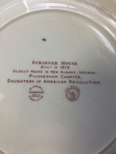"""Vintage Pink Wedgwood  of Etruria """"Scribner House"""" Dinner Plate 10-1/2"""" image 3"""