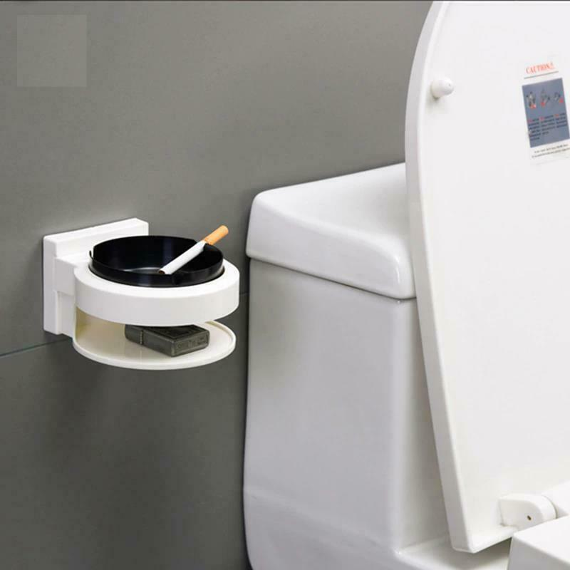 Stainless Steel Ashtray Creative Wall Mounted Bathroom Ash Storage Portable Box image 10