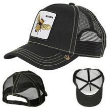 Goorin Bros Snapback Mesh Cap Embroidered Black Queen Bee Trucker Hat 101-0245 image 1