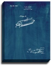 Food Article Patent Print Midnight Blue on Canvas - $39.95+