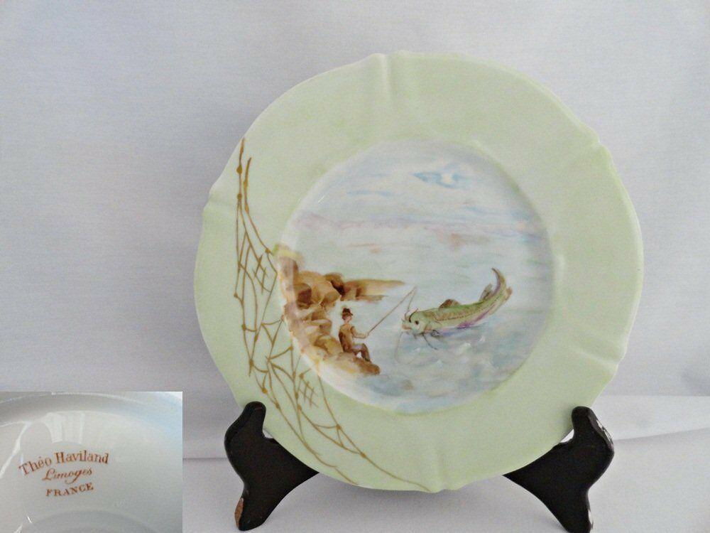 Theodore Haviland Antique Fish Plate 3 - $29.99