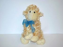 "2010 Animal Adventure Lamb Sheep Curly Fur Yellow Blonde Plush 9"" - $12.87"