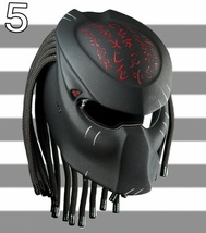 Predator Helmet The Blood Motorcycle Custom DOT / ECE Certified - $355.00
