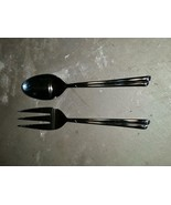 Serving Fork and Spoon FARBERWARE FRW36 NOS Millenium Woodland 18/10 Sta... - $24.99