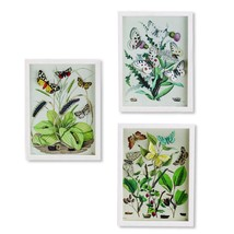 Two's Company Garden Charms Set of 3 Paper Cut Butterfly Wall Art #51666 - $94.00