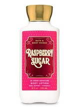 Bath & Body Works Raspberry Sugar Super Smooth Body Lotion 8oz/236ml New - $7.71
