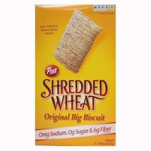Post Shredded Wheat Original Cereal, No Sugar or Salt Added, 15-Ounce Boxes Pack