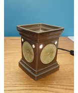 Scentsy Lotus Flower Green Full Size Deluxe Wax Warmer Retired P014 Disc... - $17.77