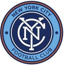 New York composite laminated circular wall plaque 25cm football soccer - €27,18 EUR