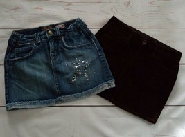 2 Gap Kids Children's Place Girls Skirts Size 10 Blue Denim Brown Cotton - $9.99