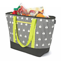 Insulated Soft Cooler Tote Black/White Bag, Size For The Beach, Picnic, ... - €21,24 EUR
