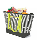 Insulated Soft Cooler Tote Black/White Bag, Size For The Beach, Picnic, ... - $32.52 CAD