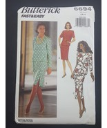 Butterick Fast Easy Sewing Pattern 6694 Misses Dress 6 8 10 Vintage 1990... - $6.95