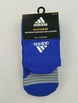 Nuevo Adidas Alphaskin Hombres Calcetines Climalite Arco Compresión Azul... - $10.51