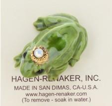 Hagen-Renaker Miniature Ceramic Frog Figurine Birthstone Prince 10 October Opal image 3