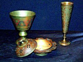 Vase, Chalice & Candle Holder AB 551 Vintage Etched image 3