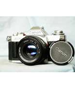 Canon AV-1 35mm SLR Camera c/w Canon 50MM 1.8 Standard Lens -MINT-TESTED... - $65.00