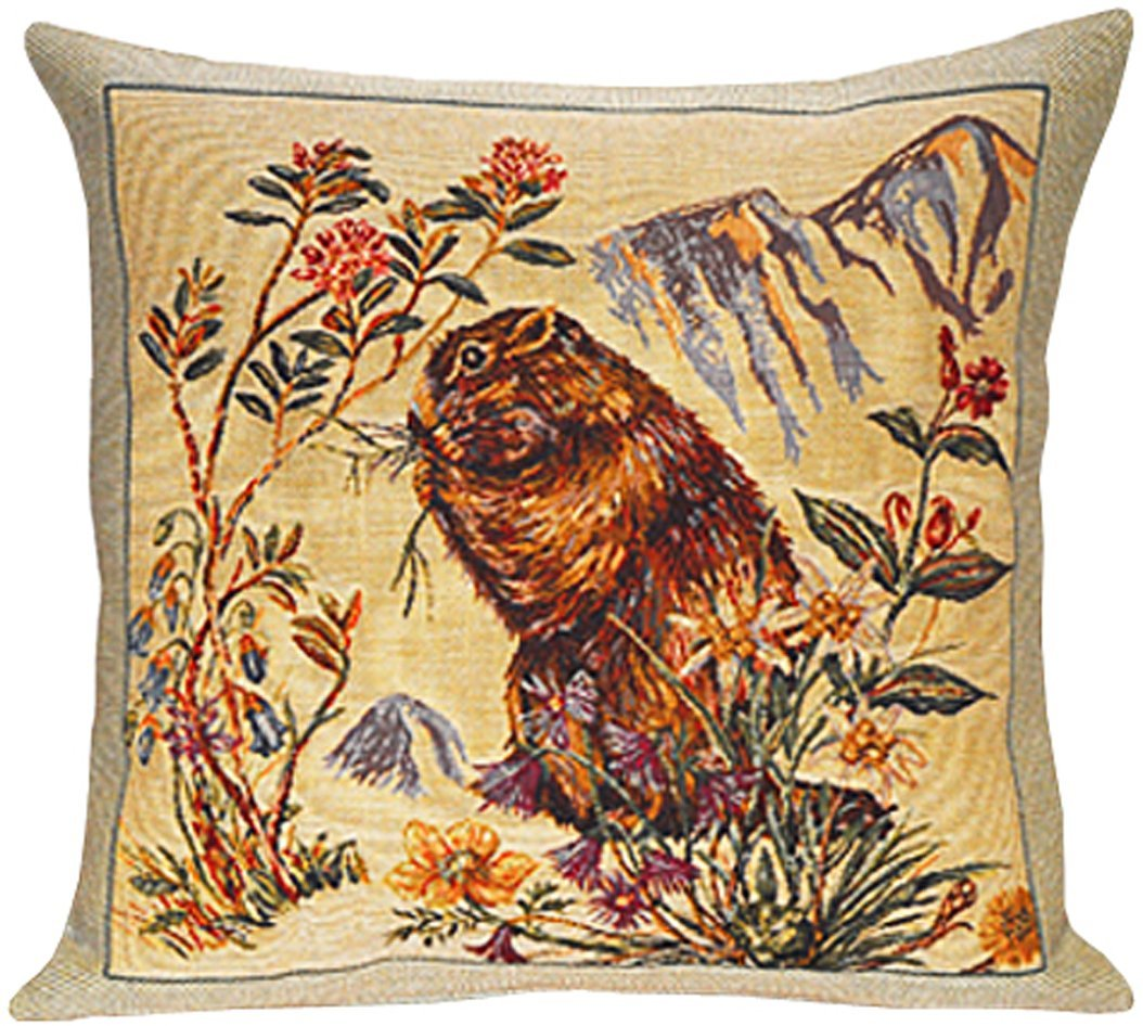 Marmottes European Cushion