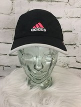 Adidas Strap Back Hat Cap Black Pink White Moisture Wicking - $24.74