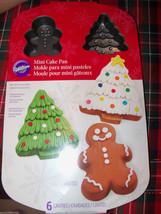 Wilton Mini Cake Pan Christmas NEW - $21.06