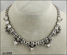 Vintage Clear Rhinestone Necklace (#J1322) - $100.00
