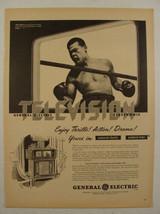 1947 JOE LOUIS Boxing BOXER General Electric TV/Radio Photo Print Ad - $9.99