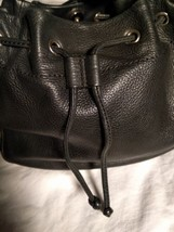Fossil Genuine Leather Black Shoulder Purse 75082  ZB8023 VINTAGE  - $34.64