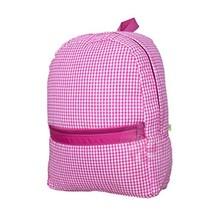 Kids Elementary Preschool 15 x 11 Inch Backpack - Hot Pink Gingham - $32.70