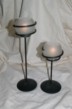Partylite Spiral Light Tealight Holders 8 and 12 Inch - $20.00