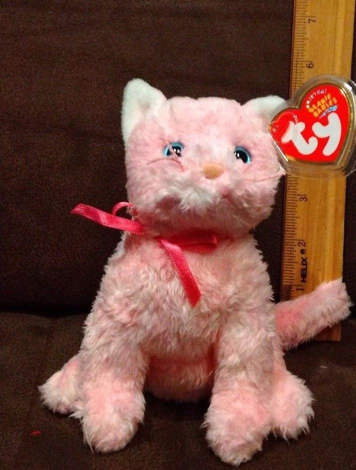 e7e1d86c345 TY Beanie Baby - FLEUR the Pink Cat (6 inch) and 50 similar items