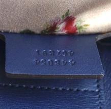 #31642 Gucci Marmont Gg Embroidered Matelasse Logo Tote Blue Denim Shoulder Bag image 5