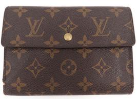 LOUIS VUITTON Monogram Porte Tresor Etui Papiers Trifold Wallet M61202 F... - $140.00