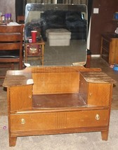 Vintage LEBUS Vanity/Dresser With Mirror - Furniture - $338.63