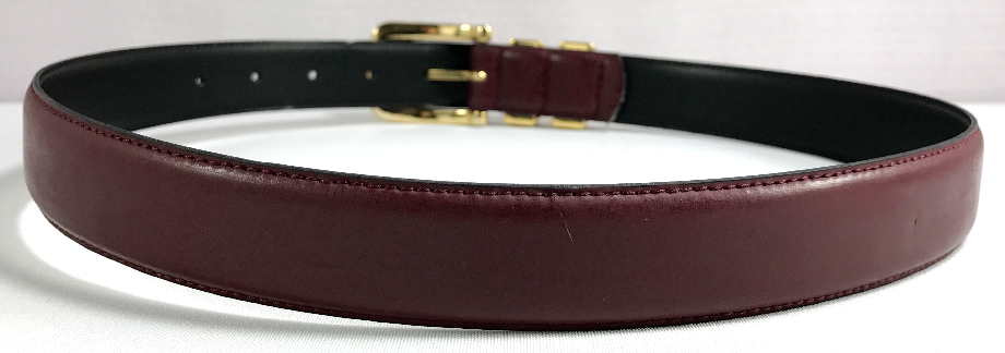 Jacqueline Ferrar Belt Womens Red Brown Split Leather Size M Made in Italy