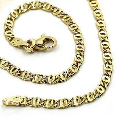 "18K YELLOW GOLD CHAIN WAVY TYGER EYE LINKS 2.8mm, 0.11"" LENGTH 60cm, 23.6"""