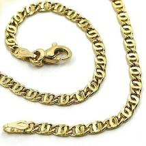 "18K YELLOW GOLD CHAIN WAVY TYGER EYE LINKS 2.8mm, 0.11"" LENGTH 60cm, 23.6"" image 1"