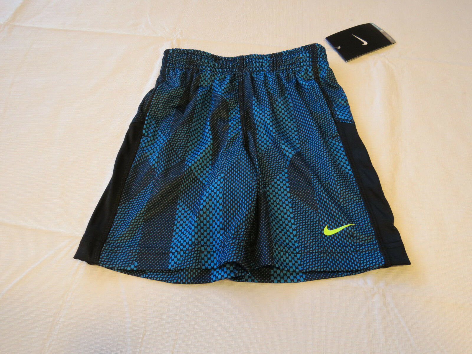Primary image for Boys Nike Dri Fit Toddler 3T active shorts 76A538 B22 Blue Lagoon & black NWT