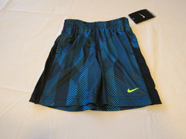 Boys Nike Dri Fit Toddler 3T active shorts 76A538 B22 Blue Lagoon & blac... - $21.26