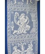 Antique Filet Lace Insertion Panel 2 Motifs 7 Squares Antique Bridal Whi... - $28.00