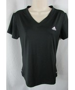 Adidas black athletic work out t shirt top medium women M  clima 365 cli... - $14.84
