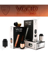 AUTHENTIC VGOD ELITE RDA 24MM | 9.2MM / 2mL WELL | Black Gold Copper or SS  - $39.95