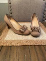 Kate Spade Brown/Tan Tweed Fur Pumps Size 8 1/2 - $100.00