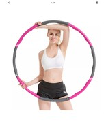 Weighted 2.2lb Hula Hoop Fitness Exercise Equipment Home Gym Weight Loss Workout - $15.47