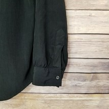 Vtg Diane von Furstenberg DVF Woman's Top Blouse Shirt Button Front Black Sz L image 2