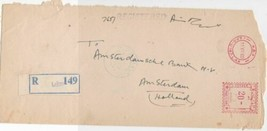 Pakistan 1960 Lahore Registered Airmail Holland Meter Mail Stamps Cover ... - $7.32
